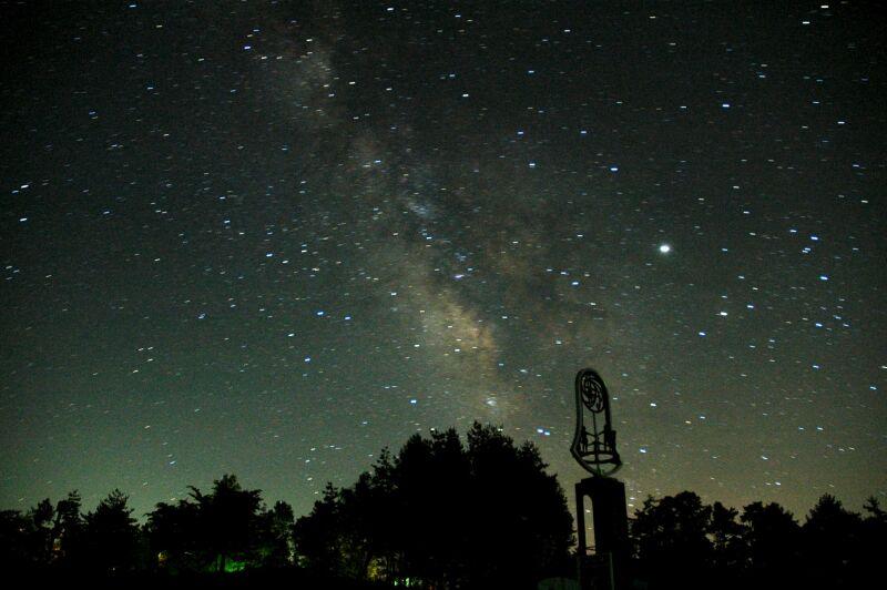 標高1300m。ペルセウス座流星群の観望会
