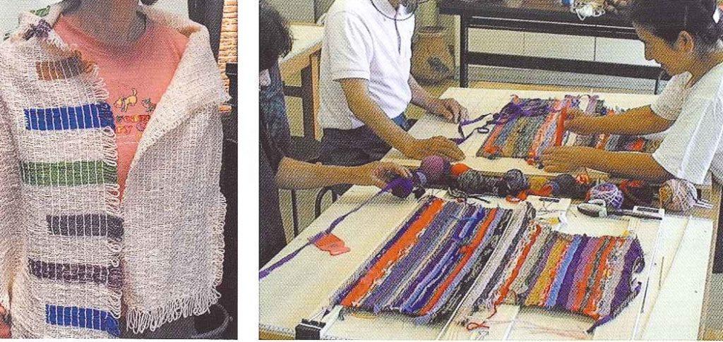 初心者でも簡単 シルクの里で織り体験