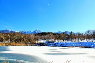 村内の積雪と路面状況